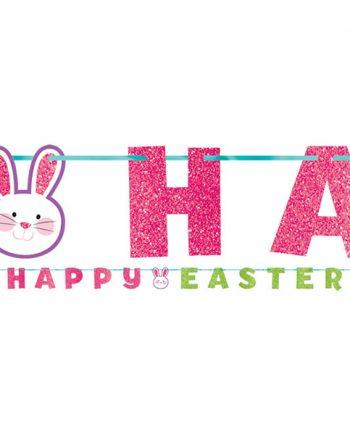 Bokstavsgirlang Happy Easter - Maskeradspecialisten.se
