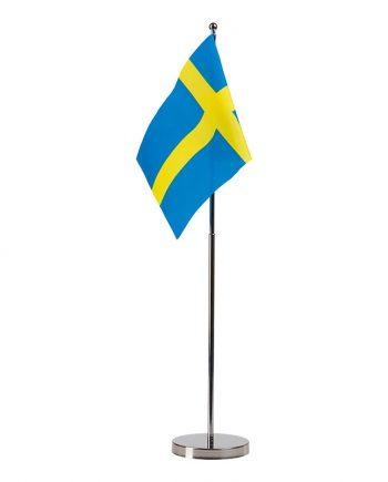 Bordsflagga Sverige i Metall - Maskeradspecialisten.se