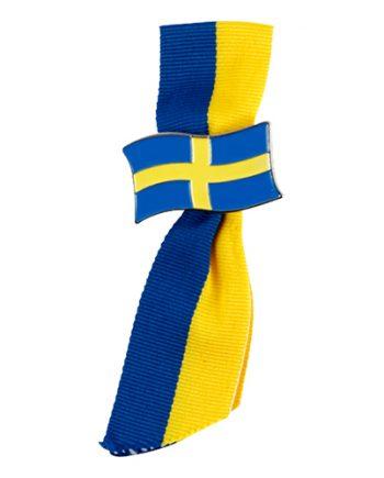 Brosch med Band Sverige - Maskeradspecialisten.se
