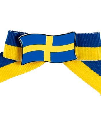 Brosch med Rosett Sverige - Maskeradspecialisten.se