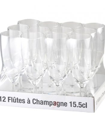 Champagneglas i Glas - 12-pack - Maskeradspecialisten.se