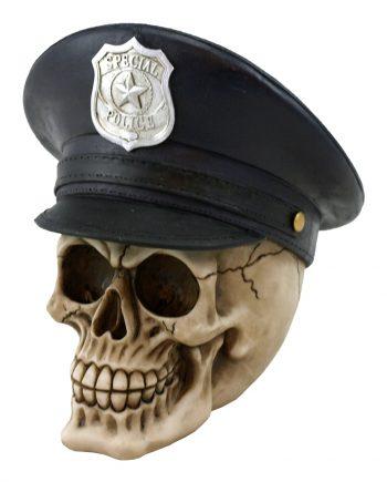 Döskalle Polis Dekoration - Maskeradspecialisten.se