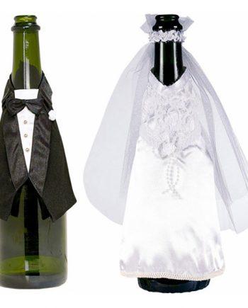Flaskklädsel Brudpar - 2-pack - Maskeradspecialisten.se