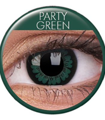 Glamourlinser Party Green - Maskeradspecialisten.se