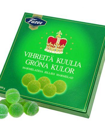 Gröna Kulor Ask - 500 g - Maskeradspecialisten.se