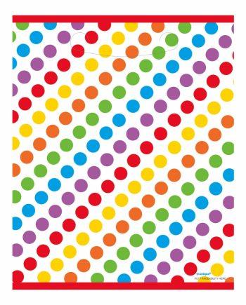 Kalaspåsar Happy Birthday Rainbow - 8-pack - Maskeradspecialisten.se