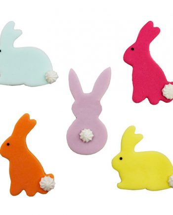 Kaniner Sockerfigurer - 5-pack - Maskeradspecialisten.se