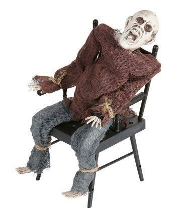 Ljudaktiverad Zombie i Stol Prop - Maskeradspecialisten.se