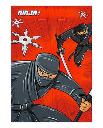 Ninja Kalaspåsar - 8-pack - Maskeradspecialisten.se