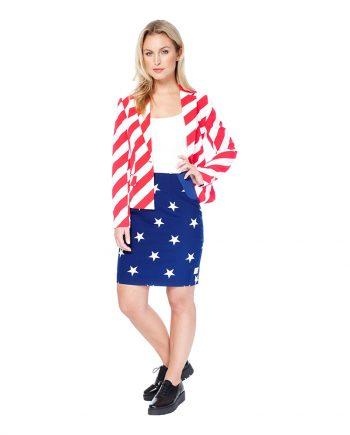 OppoSuits American Woman Dam Kostym - 34 - Maskeradspecialisten.se