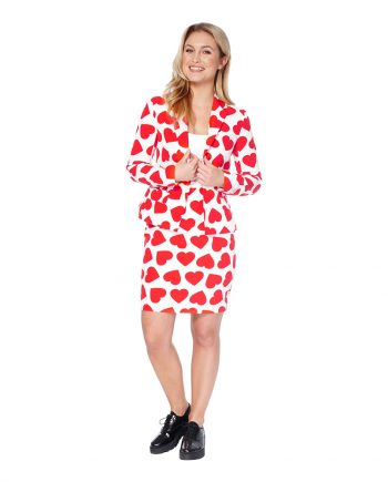 OppoSuits Queen of Hearts Kostym - 34 - Maskeradspecialisten.se