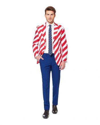 OppoSuits United Stripes Kostym - 46 - Maskeradspecialisten.se
