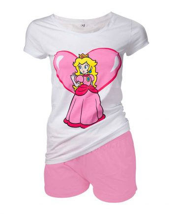 Prinsessan Peach Dam Pyjamas-Maskeradspecialisten.se
