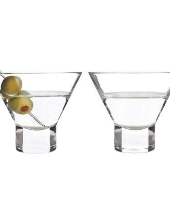 Raye Stemless Martiniglas - 2-pack - Maskeradspecialisten.se