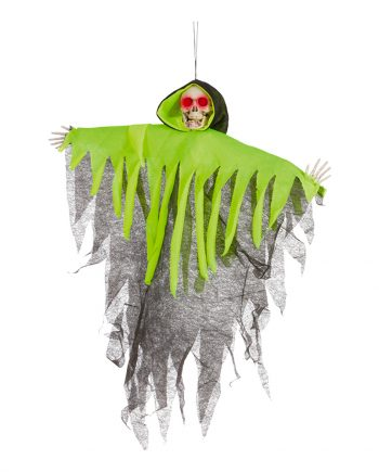 Skelett med Neonfärgad Cape Prop - Maskeradspecialisten.se