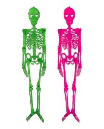 Skelett Neonfärgad-Maskeradspecialisten.se