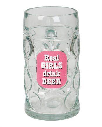 Slaktarsejdel Real Girls Drink Beer - Maskeradspecialisten.se