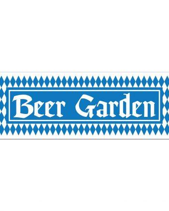 Banderoll Beer Garden - Maskeradspecialisten.se