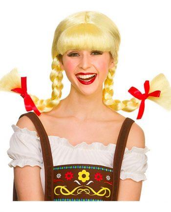 Bavarisk Blond Peruk med Flätor - One size - Maskeradspecialisten.se