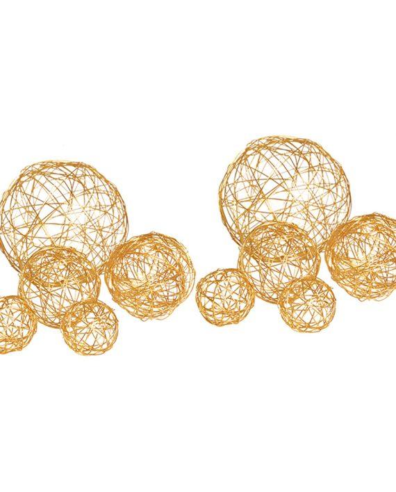 Dekorbollar av Metall Orange - 10-pack - Maskeradspecialisten.se
