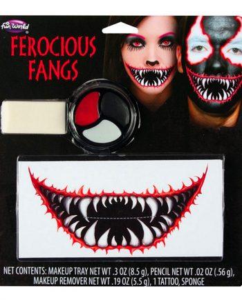 Ferocious Fangs Sminkset - Maskeradspecialisten.se