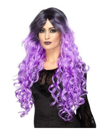 Gothic Glamour Lila Peruk - One size - Maskeradspecialisten.se