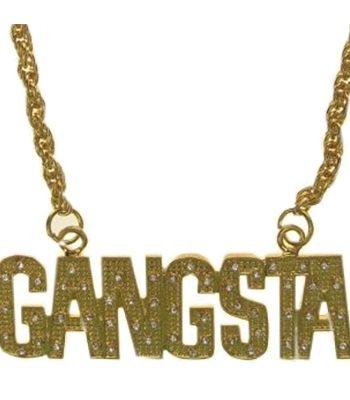 Guldhalsband Gangsta - Maskeradspecialisten.se