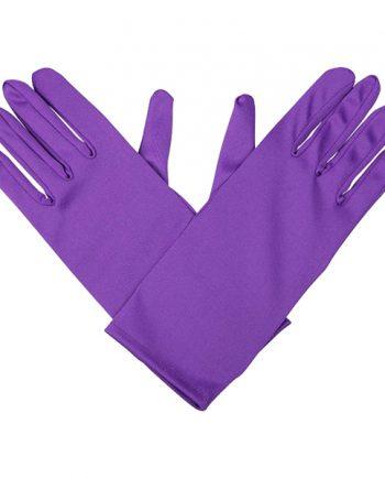 Handskar Korta Lila - One size - Maskeradspecialisten.se