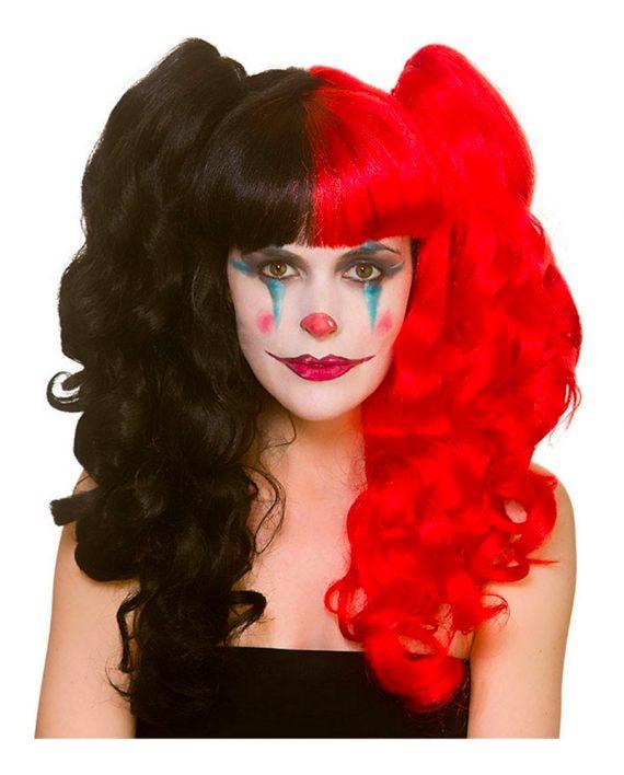 Harlequin Cosplay Peruk - One size - Maskeradspecialisten.se