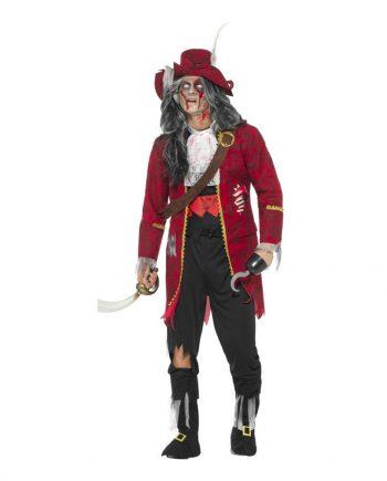 Kapten Krok Zombie Maskeraddräkt - Large - Maskeradspecialisten.se