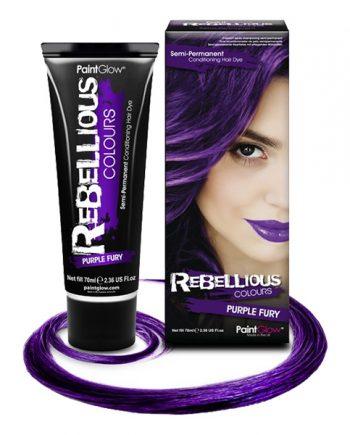 PaintGlow Semi-Permanent Hårfärg - Purple Fury - Maskeradspecialisten.se