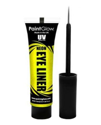 PaintGlow UV Neon Eyeliner - Gul - Maskeradspecialisten.se