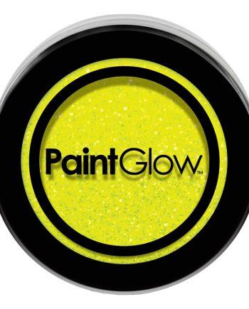 PaintGlow UV Neon Kroppsglitter - Gul - Maskeradspecialisten.se