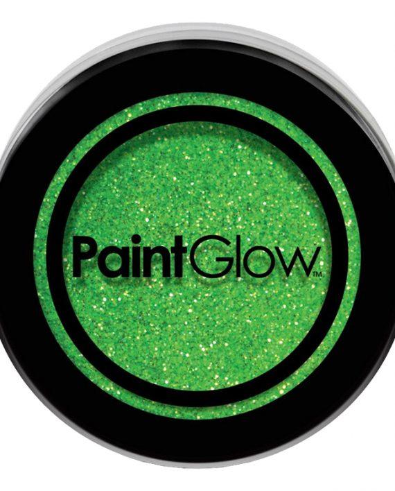 PaintGlow UV Neon Kroppsglitter - Grön - Maskeradspecialisten.se