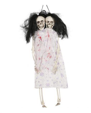 Siamesiska Tvillingar Skelett Hängande Prop - Maskeradspecialisten.se
