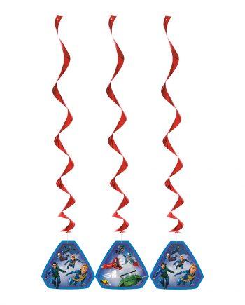 Thunderbirds Swirls Hängande Dekoration - 3-pack - Maskeradspecialisten.se