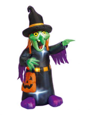 Uppblåsbar Halloween Häxa med Belysning - Maskeradspecialisten.se